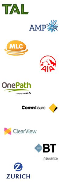 Life insurance logos.